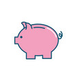 nice pig design to save money vector image vector image