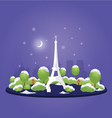 Night Christmas Paris vector image