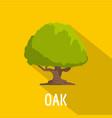 oak tree icon flat style vector image vector image