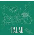 Palau Retro styled image vector image vector image