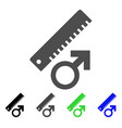 penis measure icon vector image vector image