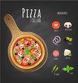 Pizza italiano vector image