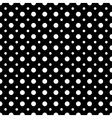 Polka dot white seamless pattern vector image vector image