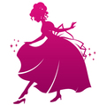 princess and her shoe vector image vector image