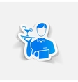 realistic design element waiter vector image vector image