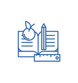 schooling line icon concept schooling flat vector image