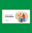 senior tourist characters in trip landing page vector image