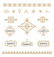 set line art decorative geometric frames and vector image