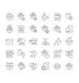 set line icons software testing vector image