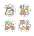 set of logos literature music art vector image
