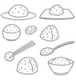 set of rice vector image vector image