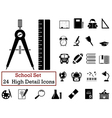 Set of school icons vector image vector image
