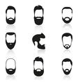 set vintage bearded men vector image