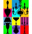 silhouettes of decorated home objects vector image