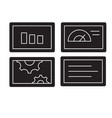 slide presentation black concept icon vector image
