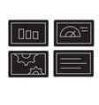 slide presentation black concept icon vector image vector image