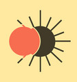 solar eclipse or planetary collision solar vector image vector image