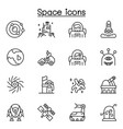 space icon set in thin line style vector image