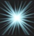 star blue explodes on transparent background vector image
