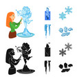 texture and frozen symbol vector image vector image