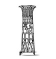 the column in the egyptian temple vector image