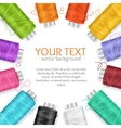 Thread Spool Banner vector image vector image