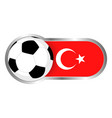 turkey soccer icon vector image vector image