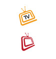 tv icon logo design vector image