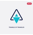 two color triangle triangles icon from vector image vector image