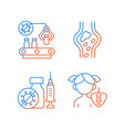 vaccination gradient linear icons set vector image vector image