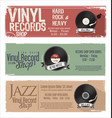vinyl record shop retro grunge banner 1 vector image vector image