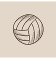 Volleyball ball sketch icon vector image vector image