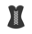 women black corset icon on white background vector image vector image