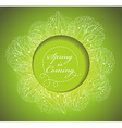 Fresh spring background with grass and flowers vector image