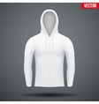 Hoodie white design templates vector image