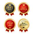 best offer or choice sale label medal set vector image