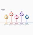 5 steps infographic design timeline chart vector image vector image