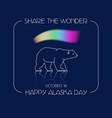 alaska day polar bear and vector image vector image