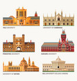 best national universities flat buildings of yale vector image vector image