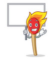 bring board match stick character cartoon vector image vector image