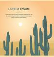 cactus tree desert landscape vector image