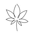 cannabis leaf icon graphic line drawing vector image