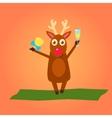 Christmas deer characters vector image vector image