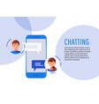 communication chatting isometrics flat style vector image vector image
