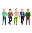 confident fashion man in casual clothes vector image