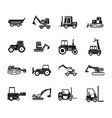construction vehicle icon set simple style vector image vector image