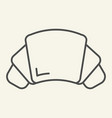 croissant thin line icon pastry vector image