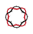 crown of thorns easter religious symbol vector image