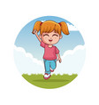 cute funny girl vector image vector image