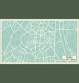 delhi india map in retro style vector image